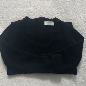Zara cable knit sweater with back zipper